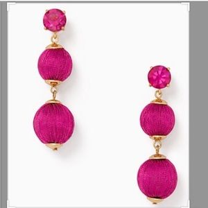 Kate Spade Fuchsia Thread Drop Earrings